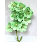 Satin Flowers with Pearls on Stem Mint