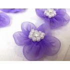 12 Organza Craft Flower for Wedding Sweet 16 or All Purpose Crafts Lavender Appliqué Sow