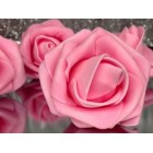 10 Pink Roses Flowers Bunch Craft Project Wedding Baby Shower