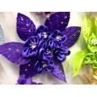 Silk Purple Flower with Rhinestones All Purpose Craft Flower Baby Shower Birthday or Wedding