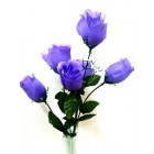 12 Purple Roses 2 Stems Silk Bud Roses Centerpiece Flower Wedding Flower Bouquets