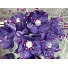 2 Purple Flower with Pearls Bunches 6 Flowers Per Bunch 12 Flowers Weddings Sweet 16 or Bridal Shower