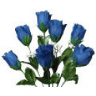12 Blue Roses 2 Stems Silk Bud Roses Centerpiece Flower Wedding Flower Bouquets