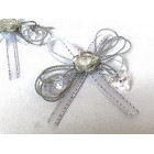 Bow Favor Flower Ties for All Occasions Silver 6 Qty