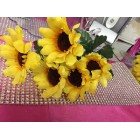 Yellow Sun flower Bouquet Bunch Craft Flowers 6 Bunches