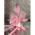 Pink Acrylic Flower with Tulle Corsage All Purpose Craft Flower