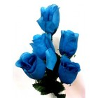12 Turquoise Roses 2 Stems Silk Bud Roses Centerpiece Flower Wedding Flower Bouquets