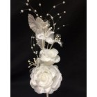 Satin White Pearl Craft Flower