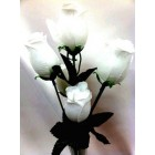 12 White Roses 2 Stems Silk Bud Roses Centerpiece Flower Wedding Flower Bouquets