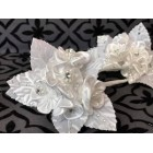 White Organza Satin Flower Craft Favors Party Supplies