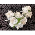 Bunches of White Organza Craft Project Flowers Favors Craft Supplies