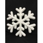 5 White Foam Snowflake Party Decorations
