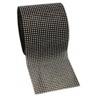 "Diamond Black/Silver Mesh Roll 4.75"" Sparkle Rhinestone 10 Yards"