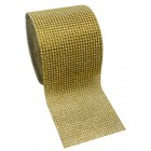 Diamond Gold Mesh Wrap Roll 4.75 in Sparkle Rhinestone 10 Yards