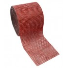Diamond Red Mesh Wrap Roll 4.75 in Sparkle Rhinestone 10 Yards