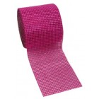 Diamond Fuchsia Mesh Wrap Roll 4.75 in Sparkle Rhinestone 10 Yards