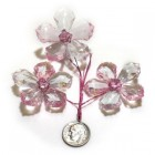 Acrylic Crystal Flower Decoration- Pink