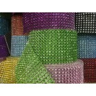 Rhinestone Diamond 4.75 in W Ribbon Mesh Wrap Roll 10 Yards