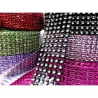 Mesh Simulated Diamond Rhinestones Roll  Wrap 10 Yards