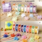"Organza Pull String Bow 1/8"" Craft Ribbon 50 yards"