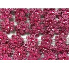 Fuchsia Plastic Flower Design Craft Trim Multipurpose Trimming 8 Yards