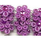 Purple Plastic Flower Design Craft Trim Multipurpose Trimming 8 Yards