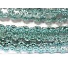 Turquoise Curved Plastic Bling Trim Craft Trim Multipurpose Cake Trimming 8 Yards