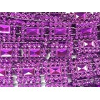 Purple Plastic Sqaure Design Craft Trim Multipurpose Cake Trimming 8 Yards
