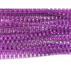 Purple Round Plastic Bling Trim Craft Trim Multipurpose Cake Trimming 8 Yards
