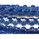 Royal Blue Curved Plastic Bling Trim Craft Trim Multipurpose Cake Trimming 8 Yards