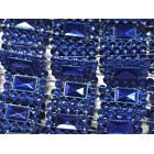 Royal Blue Plastic Sqaure Design Craft Trim Multipurpose Cake Trimming 8 Yards