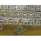 10 Yards Craft Silver Simulated Rhinestones Trim Multipurpose Wedding Sweet 16 Party Supplies