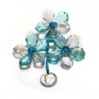 Acrylic Crystal Flower Decoration-Blue