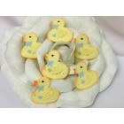 Yellow Duck Favors Cake Topper Baby Shower Decoration