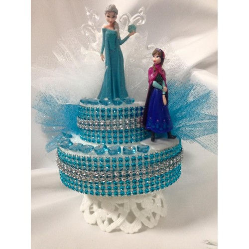 Frozen elsa and anna cake topper