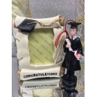 Graduation Boy Figure & Diploma Frame Party Favor or Keepsake Gift