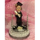 Graduation Girl Cake Topper Centerpiece Gift Keepsake