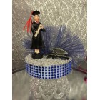 Graduation Girl Blue & Silver Cake Topper or Centerpiece Gift
