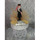 Graduation Boy Gold & Silver Cake Topper or Centerpiece Gift