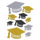 Graduation Assorted Glitter Cutout Set Party Supplies 10 Ct