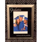Graduation Photo Frame Graduate Silver and Black Keepsake Gift