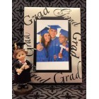 Graduation Photo Frame with Graduation Girl or Boy Figurine Keepsake Gift