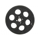 Small Distressed Black Metal Movie Reel Home Theater Decoration