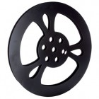 Medium Black Metal Movie Reel Decoration