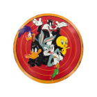 Looney Tunes Round Embossed Tin Sign