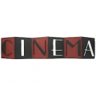 Red & Black Cinema Metal Wall Decoration Home Theater Decoration