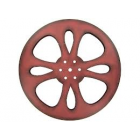 Red Metal Movie Reel Home Theater Decoration