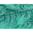 "Blue Pleated Organza Craft Lace 1 1/2"" W"