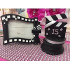 Movie Theme Place Card Holder Favor Frame and Directors Cut Favor for Birthday Mis Quince Anos