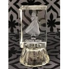 Mis Quince Años Sweet 15 Girl Glass Favor Light Up Decoration Keepsake